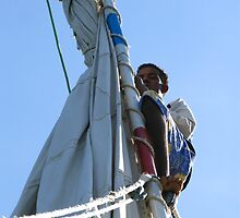 Rigging the Sails - Nubia, Egypt by Marilyn Harris