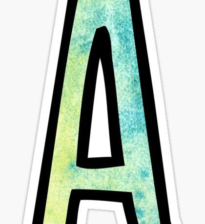 Letter A Sticker