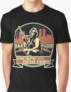 Snake Plissken (Escape from New York) Badge Vintage Graphic T-Shirt