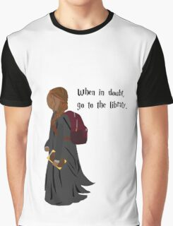 Hermione Granger - When In Doubt, Go To The Library Graphic T-Shirt