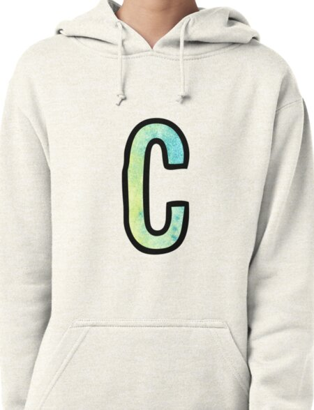 Letter C Pullover Hoodie