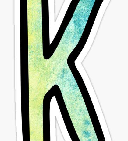 Letter K Sticker
