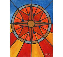 Mosaic Compass Photographic Print