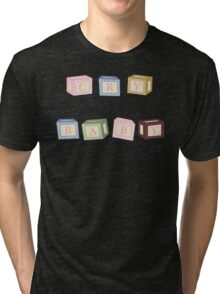 CRY BABY BLOCKS Tri-blend T-Shirt