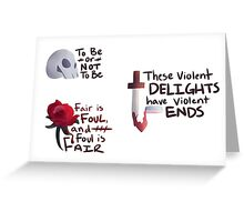 Shakespeare Quotes Stickers Greeting Card