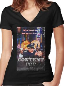 Content Cop - The Movie Women's Fitted V-Neck T-Shirt