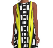 PATTERNATION|YELLOW ALERTNESS| RB EXCLUSIVE A-Line Dress