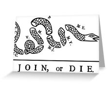 Join or Die, United States Military Greeting Card