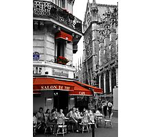 French Cafe at Notre Dame Photographic Print