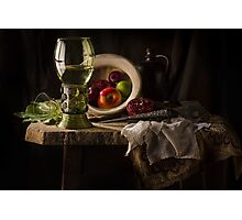 Still Life in Red & Green Photographic Print