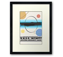 Minimalist Recruitment Poster for the U.N.S.C Infinity Framed Print