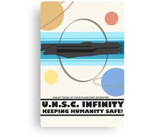 Minimalist Recruitment Poster for the U.N.S.C Infinity Canvas Print