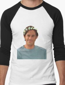 Xander Harris - Flower Crown Men's Baseball ¾ T-Shirt