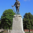 The King's Royal Rifle Corps Memorial, Winchester Cathedral Close, southern England. by Philip Mitchell