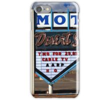 Route 66 - Desert Skies Motel iPhone Case/Skin