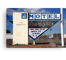 Route 66 - Desert Skies Motel Metal Print