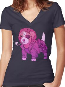 KURT RUSSELL TERRIER - ESCAPE FROM NEW YORK Women's Fitted V-Neck T-Shirt
