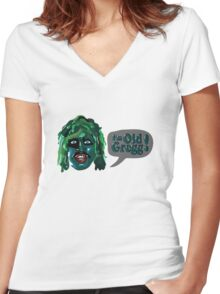 I'm Old Gregg! - The Mighty Boosh Characters Women's Fitted V-Neck T-Shirt