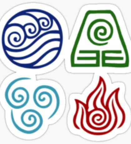 Avatar Element Symbols Sticker