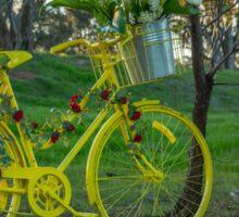 Yellow Bike.. Sticker