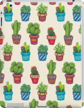 Cactus Pot Plant Garden by Emma Hampton