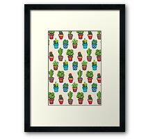 Cactus Pot Plant Garden Framed Print