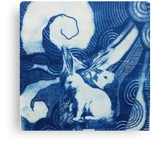 Bunny tales of Beyond the Blue Canvas Print
