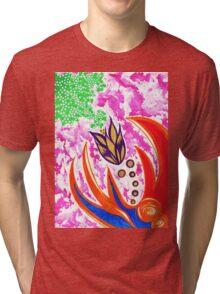 """""""Zig Zag Floral"""" By Jessie R Ojeda Tri-blend T-Shirt"""