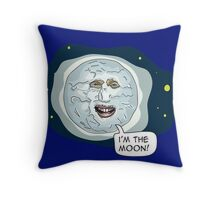 The mighty Boosh - I'm the moon Throw Pillow