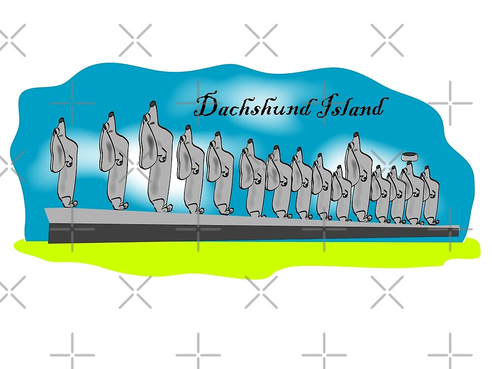 Icons of Earth: Dachshund Island by Diana-Lee Saville