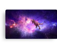 A Dinosaur Flying Through The Void Canvas Print
