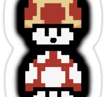 Mushroom Faces Sticker