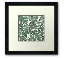 Tropical Leave pattern 1` Framed Print