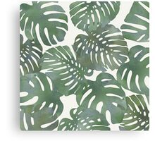 Tropical Leave pattern 1` Canvas Print