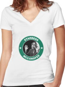 Starbess Mccordfee Women's Fitted V-Neck T-Shirt