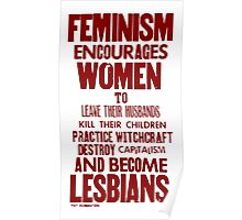 Feminism in Wherever Red Poster