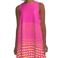 yellow dots on hot pink A-Line Dress