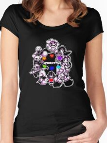 Hot Undertale Purple Women's Fitted Scoop T-Shirt