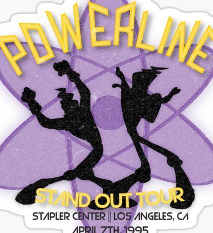 Vintage Powerline Concert Logo - A Goofy Movie Sticker