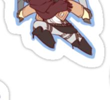 Attack on Titan Eren, Mikasa, Armin Sticker