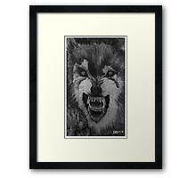 Big Bad were-Wolf Framed Print