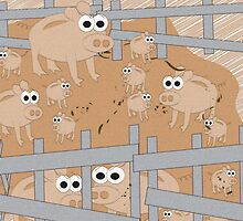 In the Farmyard 3 by Diana-Lee Saville
