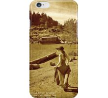 Elk Rock Island Houseboat And Girl iPhone Case/Skin