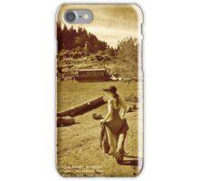 Elk Rock Island Houseboat And Girl iPhone Case/Skin