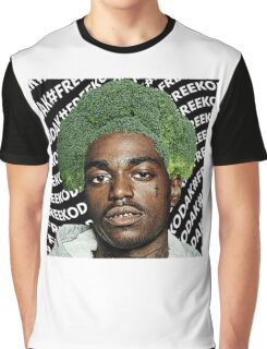 Kodak Black Broccoli Head #FREEKODAK Graphic T-Shirt