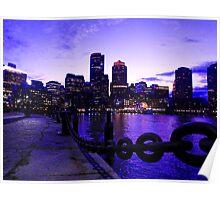 Boston Waterfront at Twilight Poster