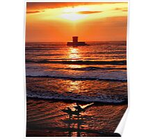 Sunset surfers la Rocco Tower Jersey Poster
