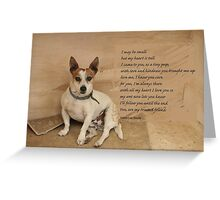 Birthday Card for Humans from their Dogs :)) Greeting Card
