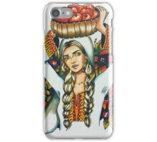 The woman who carry the apples iPhone Case/Skin