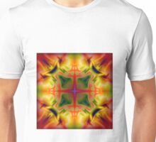 Soft drawing with colorful patterns in batik Unisex T-Shirt